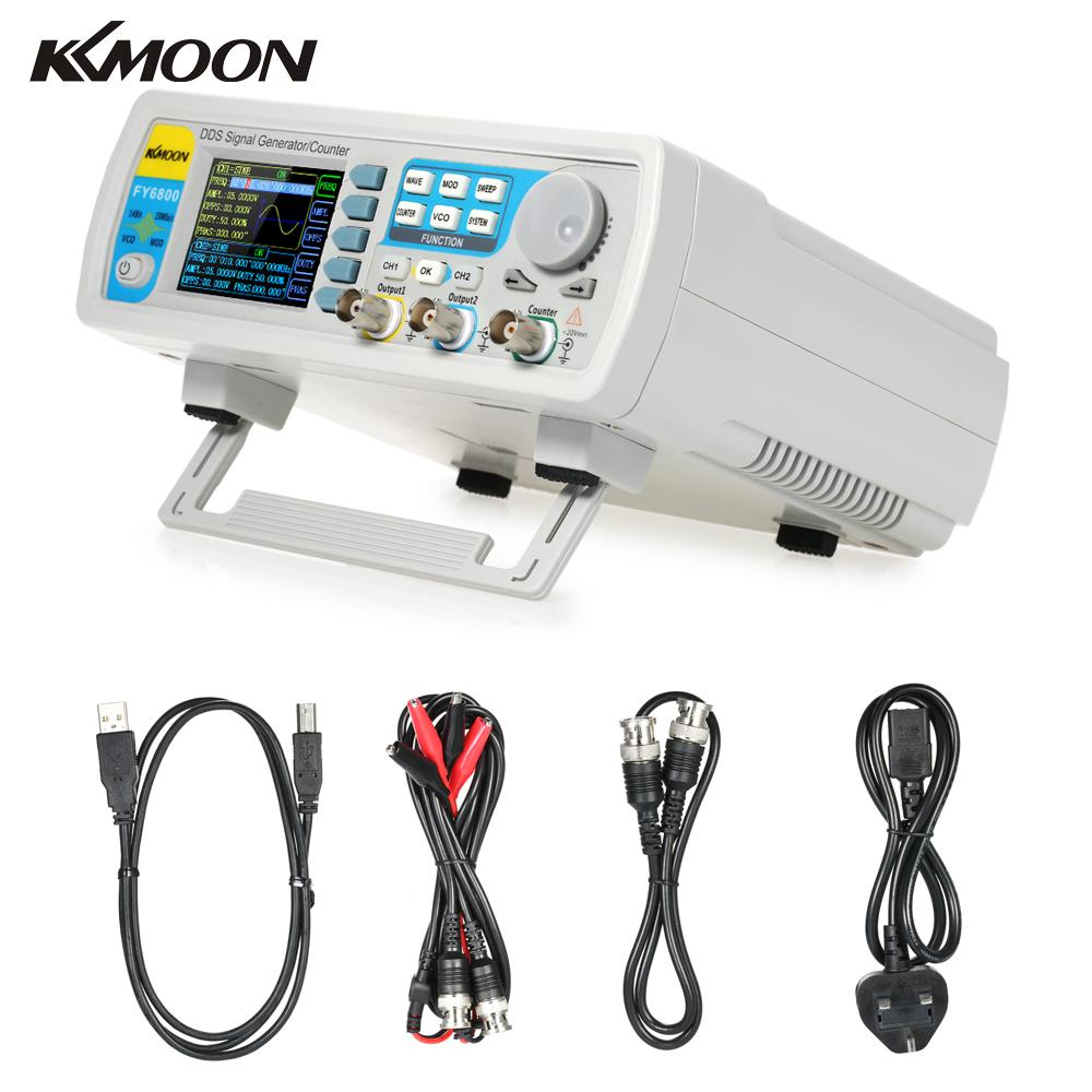 FY6800 Dual channel Digital signal generator DDS Frequency Function Generator Arbitrary Waveform Generator 250MSa/s 14bits 60MHz-in Oscilloscopes from Tools    1