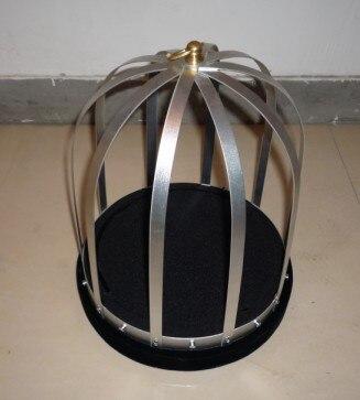 Cage à feu automatique tours de magie colombe apparaissant de Cage vide tours de magie pour adultes, illusions de magie de scène, kit de spectacle de magie