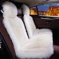 Accesorios interiores del coche asiento de Coche cojín de piel de oveja cubre styling car seat covers 6 color de piel PARA CONTRAPORTADAS 2015 D001-B