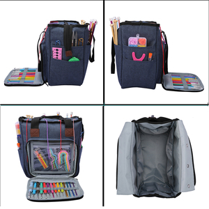 Image 4 - Portable Knitting Bag Yarn Storage Bag Tote for Wool Crochet Hooks Knitting Needles Sewing Supplies Set DIY Household Organizer