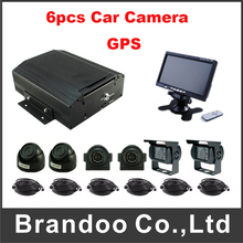 8 Channel MDVR Truck DVR With GPS Function Including 6pcs AHD Car Camera And Car Monitor For Truck