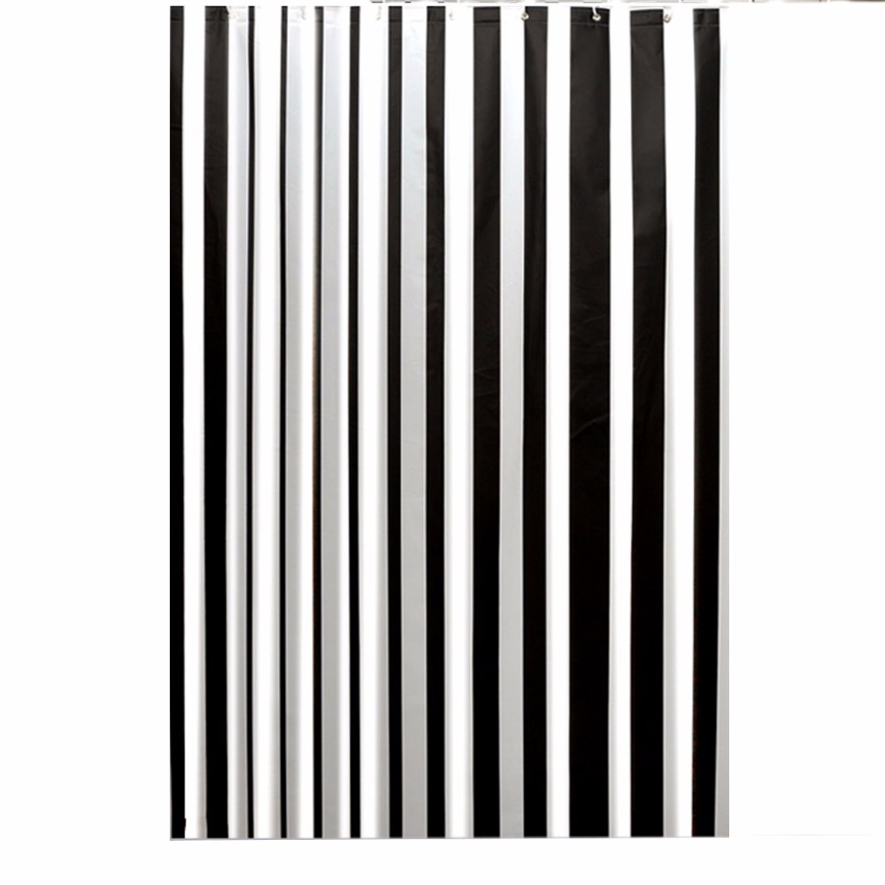 Clear fish shower curtain - Cl Clear Fish Shower Curtain 180 180cm Thicken Unique Black Strip Peva Shower Curtain Liner