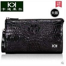 Kadiler 2017 free shipping hot new crocodile men bag zipper bag high-capacity long wallets hand caught bag men clutches me purse