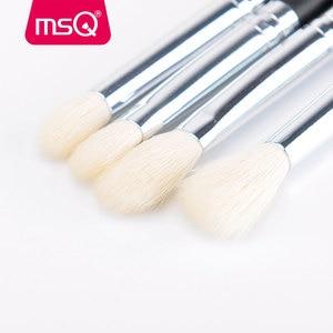 Image 5 - MSQ Juego de brochas de maquillaje, 15 uds, Pro, base, sombra de ojos, colorete, Kit de brochas de maquillaje, pelo sintético de alta calidad con Funda de cuero PU