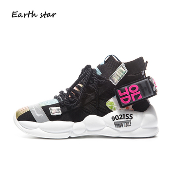 Casual Shoes Women Sneakers Platform zapatos de mujer Patchwork chaussures femme Ladies White footware Breathable Colorful Shoes