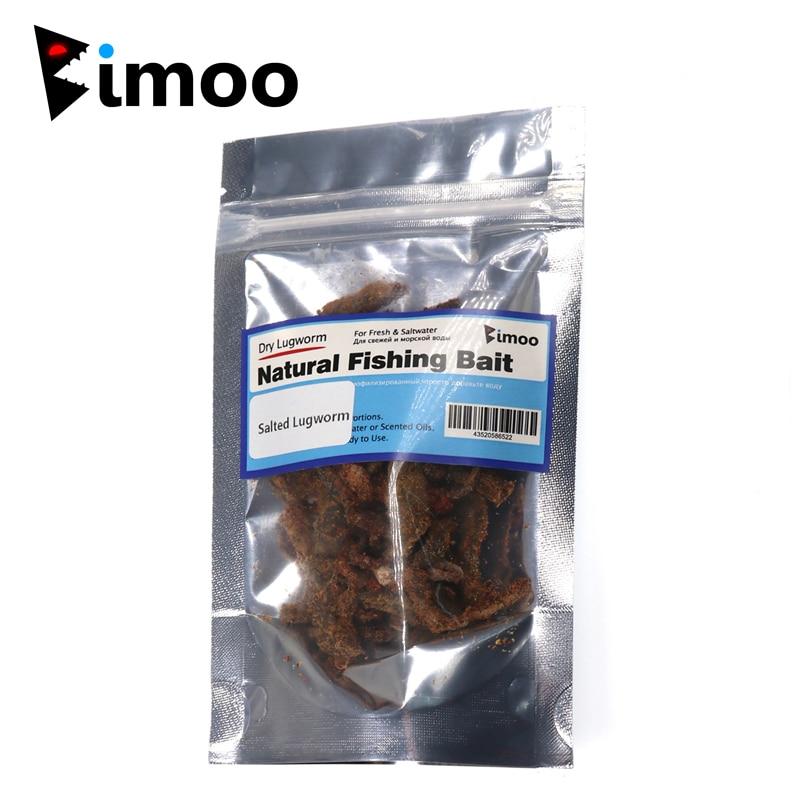 Bimoo 20 g/saco sal lugworm areia sem-fim isca de pesca água doce & água salgada lug worms