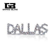 FREE SHIPPING! Clear Rhinestone DALLAS State  Brooch Pin