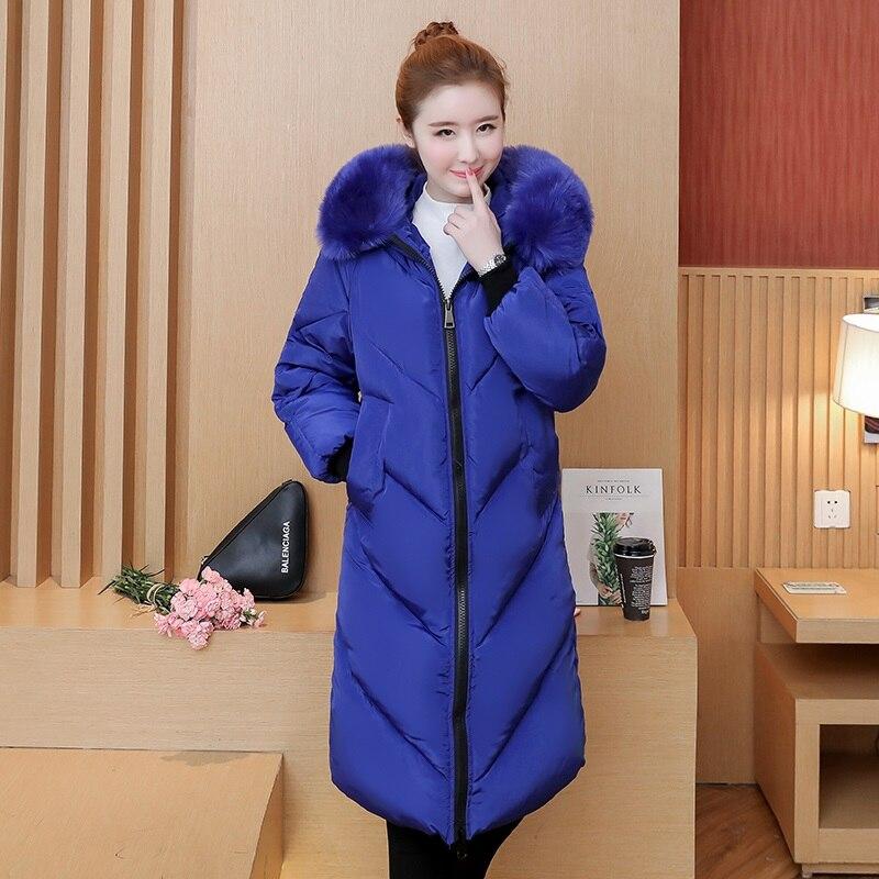 HETOBETO Plus taille 5XL Femmes Hiver Coton Veste Manteaux Épais Chaud Parkas De Mode À Capuchon col de fourrure Mince Veste 105 kg peut porter