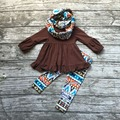 FALL OUTFITS persnickety girls 3 pieces with scarf sets girls thanksgiving day clothing baby brown boutique clothes Azect pant