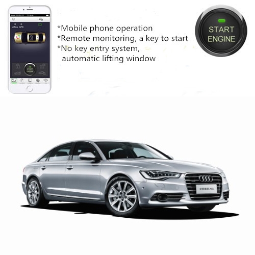 PLUSOBD Car Alarm System With Remote Engine Start By Mobile Phone - Audi car tracker
