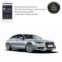PLUSOBD Car Alarm System With Remote Engine Start By Mobile Phone+Key GPS Tracking For Audi A6 A4 Q5 No Wire Cut No Key Broken