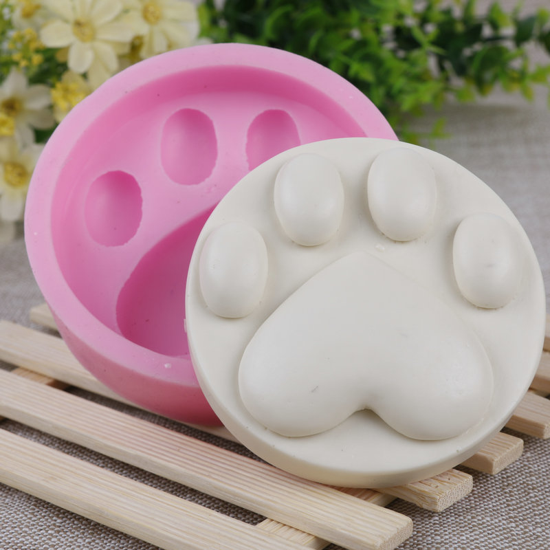 The Dog Paw Print Mold Ice Cream Liquid Silicone Soap Mold And Arts and Crafts Mold