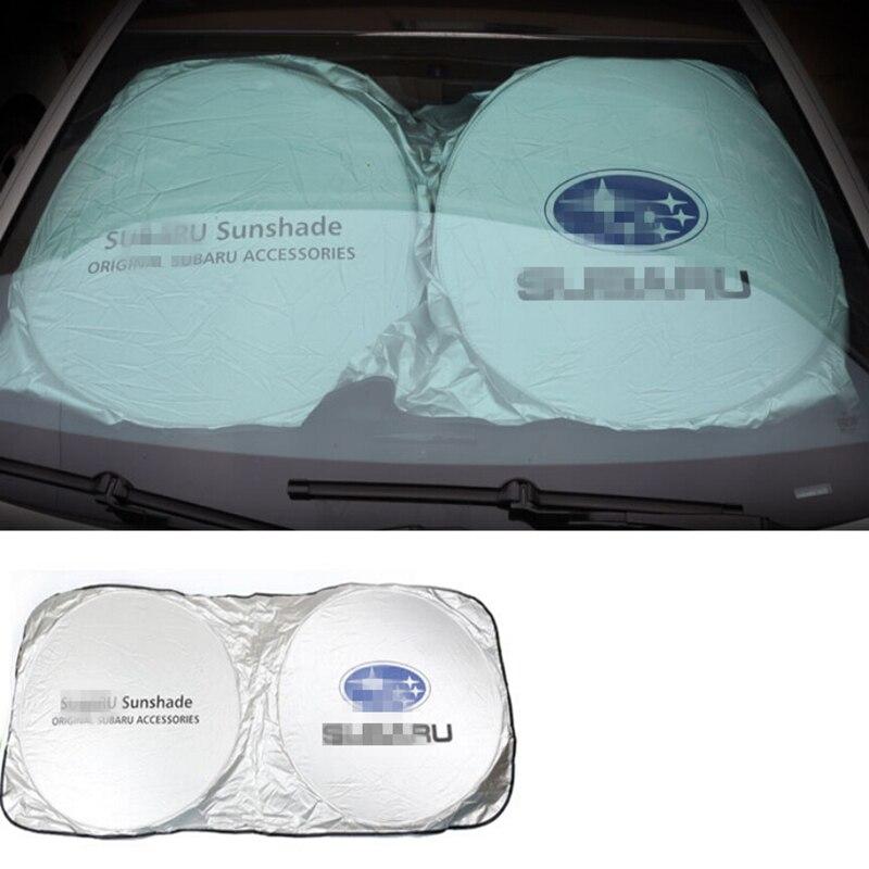 Brisas do carro Sunshade Frente Sombra Dom Janela Brisa Visor Capa Para Subaru Forester Impreza Legacy Outback Justy