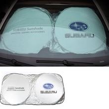 Автомобиль солнцезащитный козырек на ветровом стекле переднее окно Защита от солнца тенты козырек на лобовое стекло Крышка для Subaru Forester Impreza Legacy Outback Justy