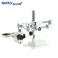 Luckyzoom Universal Double Boom Trinocular Stereo Zoom Microscope Stand STL2 Focuse Arm A1 Holder Microscopio Accessories