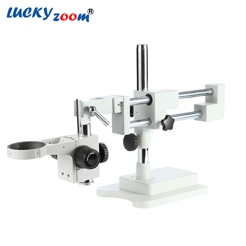 Luckyzoom Universel Double Boom Trinoculaire Stéréo Zoom Microscope Stand STL2 Focuse Bras A1 Titulaire Microscopio Accessoires
