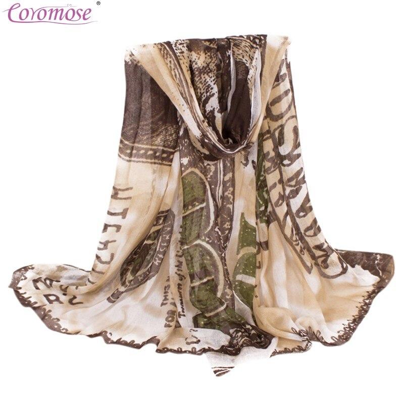 Coromose Women S Fashion Us 100 Dollar Bill Print Scarves