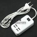 4 Port USB Charger 15W Power For iPhone 4S 5 5S 5C 6 Plus Samsung Huawei ZTE Lenovo Meizu Mi Mp3 Mp4 PSP DV AC Adapter