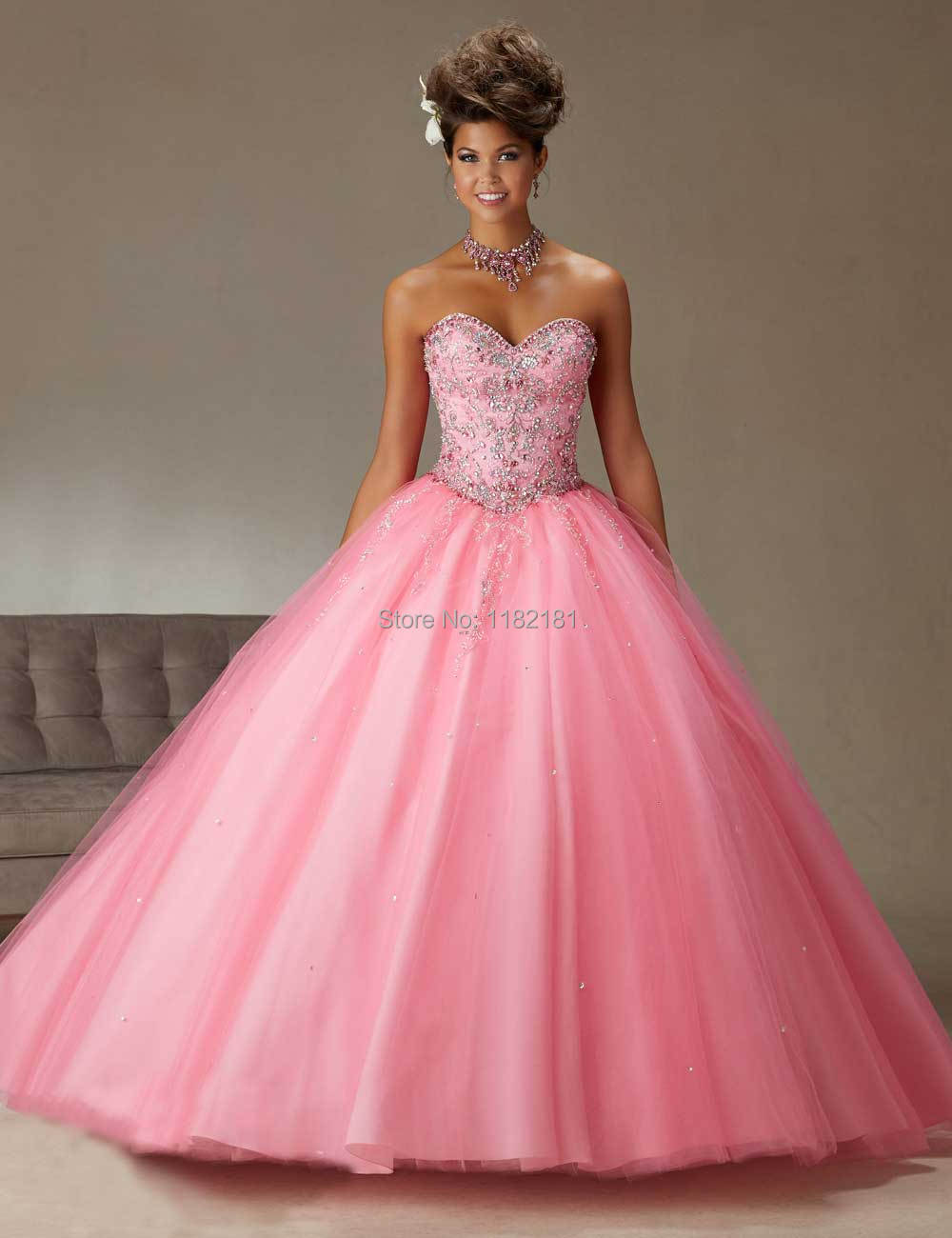 Aliexpress.com : Buy 2016 High Quality Beaded Sweet 16 Dress Pink ...