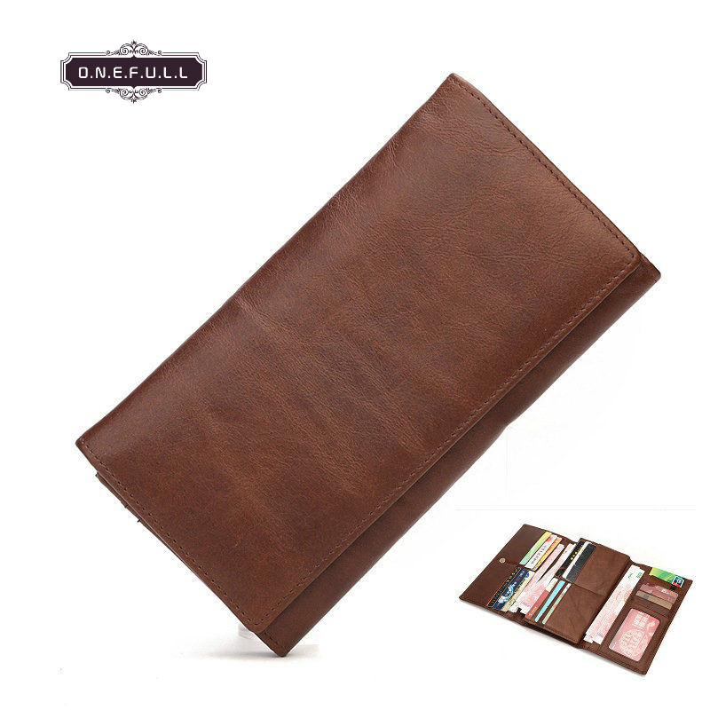 New HIGH QUALITY Genuine Leather men wallets vintage Long Wallet Retro zipper hasp Trifold Multi-function Card Holder coin purse vintage genuine leather wallets men fashion cowhide wallet 2017 high quality coin purse long zipper clutch large capacity bag