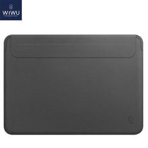Image 1 - WIWU funda para portátil para MacBook Air 13, bolsa impermeable para portátil, para MacBook Pro 13 15, Funda de cuero PU para Notebook