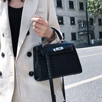 Luxury Crocodile Pattern Ladies Hand Bags  Fashion Small Women Bags Designer High Quality PU Leather Crossbody Bags Sac A Main
