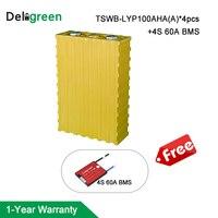 4 шт. 12 В Winston LiFeYPO4 батарея 100AHA A литий ионный аккумулятор для электромобиля/солнечной UPS/хранения энергии