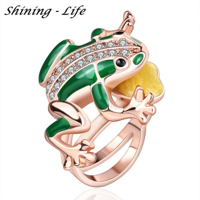 Unique Design Austrian Crystal SWA Element Jump Frog Ring Anel
