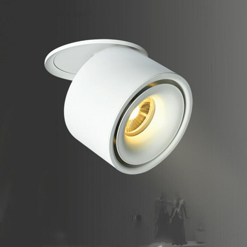 цена Surface Mounted LED Spot Light 360 Degree Rotation LED Downlights 15W Dimmable COB Downlights AC85-265V LED Ceiling Lamps