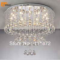 Free Shipping 2013special Offer Double Layers Spiral Design Dia500 H450mm Modern Crystal Ceiling Lamp