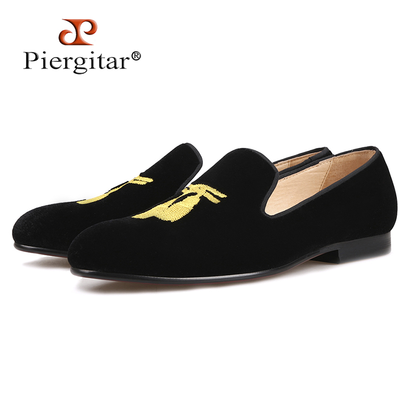 Piergitar 2018 New style Handmade Men Loafers With Tassel Embroidery Leather insole Slip-on Fashion party and wedding men shoes piergitar fashion men suede shoes handmade men loafers for party and wedding prom breathable leather insole slip on men s flats