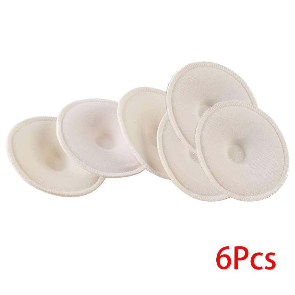 6PCS Baby Feeding Pad Breast Washable Pad Nursing Soft Absorbent Reusable Nursing Anti-overflow Maternity Care Pad