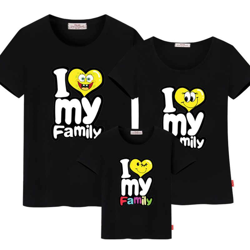 ครอบครัวชุดพิมพ์เสื้อยืด mommy และ ME เสื้อผ้า Family LOOK ผ้าฝ้ายเสื้อยืดพ่อ SON ชุดเสื้อผ้า