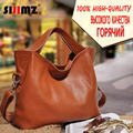 SIJIMZ Casual Genuine Leather Bags Big Women Shoulder Bags Luxury Women Leather Handbags High Quality Female Tote