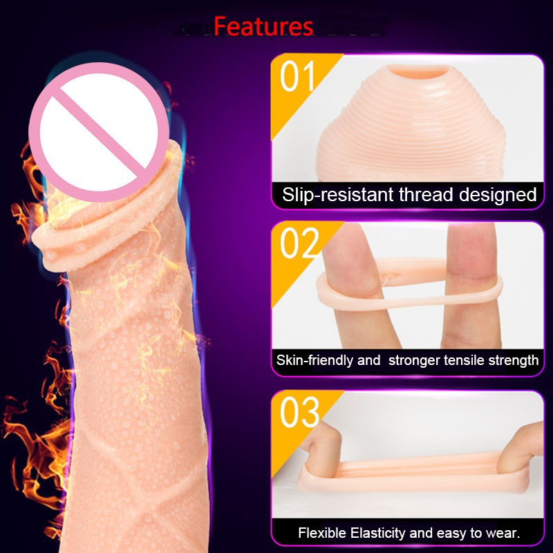 2PCS Silicone Foreskin Correction Ring Foreskin Sleeve Glans Penis Rings Cockring Ejaculation Delay Adult Sex Toys For Men Male