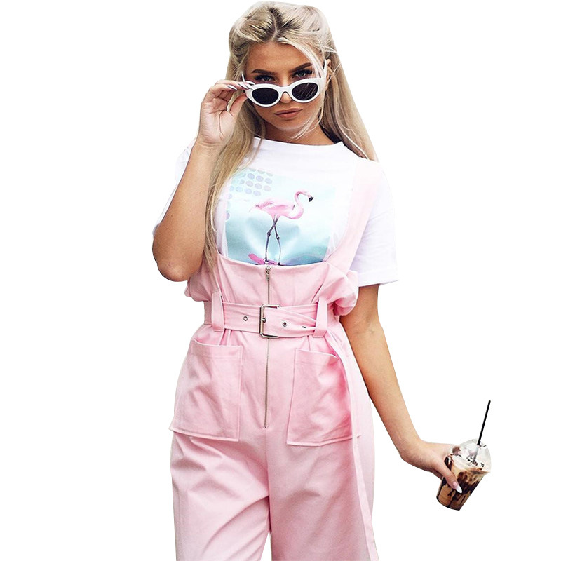 High waist pink loose   wide     leg     pants   Women spring sashes causal   pants   Ladies bottoms sexy summer trousers overalls 0303-71