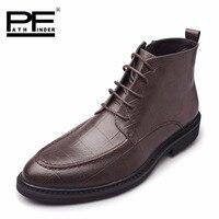 2018 باثفايندر الربيع أعلى الاحذيه رجل الأعمال عارضة الأحذية الجانب سستة تنفس اللباس أكسفورد أحذية للرجال حجم كبير