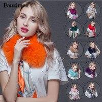 2019 the new hot selling fox muffler fur collar natural fox fur collar real fur collar child winter fur scarf ribbon lovely girl