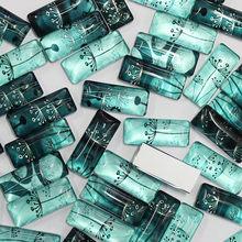 10x25mm Mischblumen Rechteck Glas Cabochon Flatback Foto Dome Schmucksachen Anhänger basis 10 teile/los (K05394)