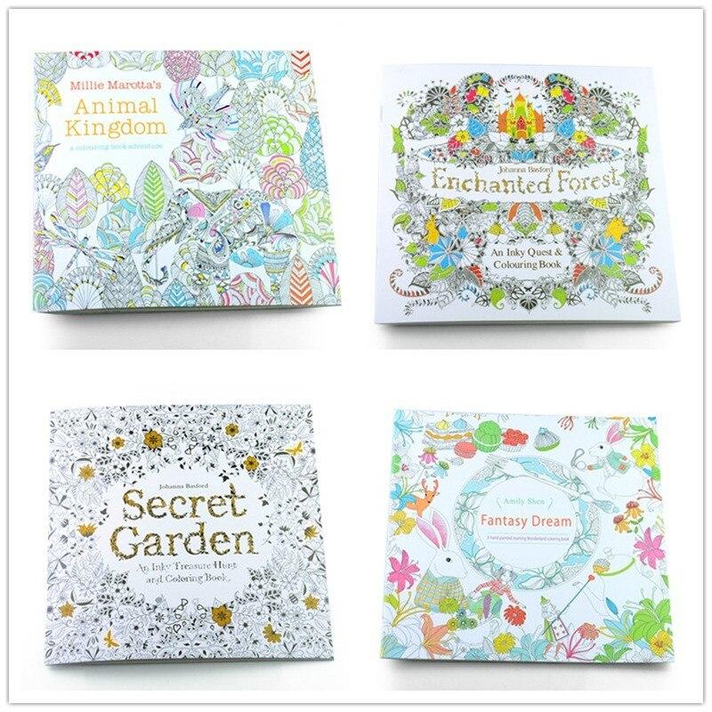 4 Unids Lote 24 Paginas Jardin Secreto Sueno De Fantasia