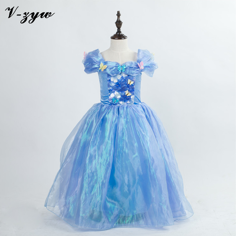 Cinderella Princess Character Dress Child 3t 4t 5 6 7: Childrens Evening Gowns Girl Cinderella Dress Formal Dress