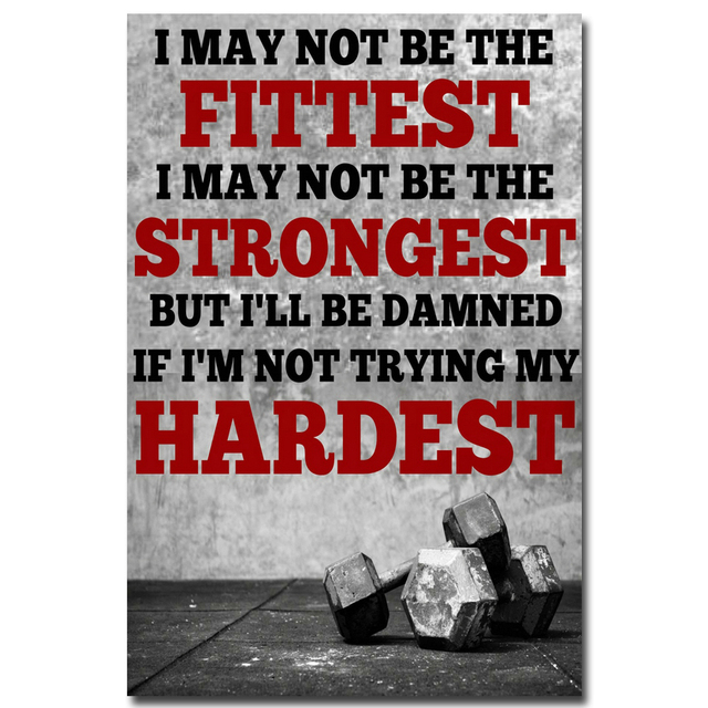 Nicoleshenting bodybuilding motivational quotes art silk poster