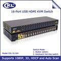 Ckl 16 portas usb ps/2 switch kvm hdmi, Monitor Rato Teclado Switcher Suporta Auto Scan 1080 P 3D Montagem Em Rack (CKL-9116H)