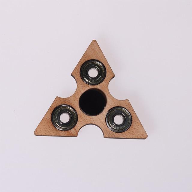 Tri-Spinner Fidgets Juguete De Madera Mano Juguetear Spinner para El Autismo y EL TDAH a Aliviar El Estrés Y Aumentar la Concentración de Beyblade