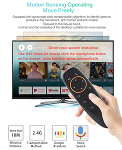 Image 4 - G10 Gyroscope Air Mouse Mic Microphone Google Assistant Voice Search IR Learning Remote Control For Android Smart TV Box