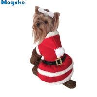 Mogoko Brand New 1 pc Dog Pet Traje de Papai Noel Vestido de Moletom Com Capuz filhote de cachorro Roupas de Inverno de Natal Vestuário Ter M/L Tamanho Opcional