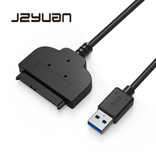 JZYuan SATA To USB 3.0 2.5 Inch Hard Drive 22 Pin High Speed Transfer Adapter Cable Converter For 2.5