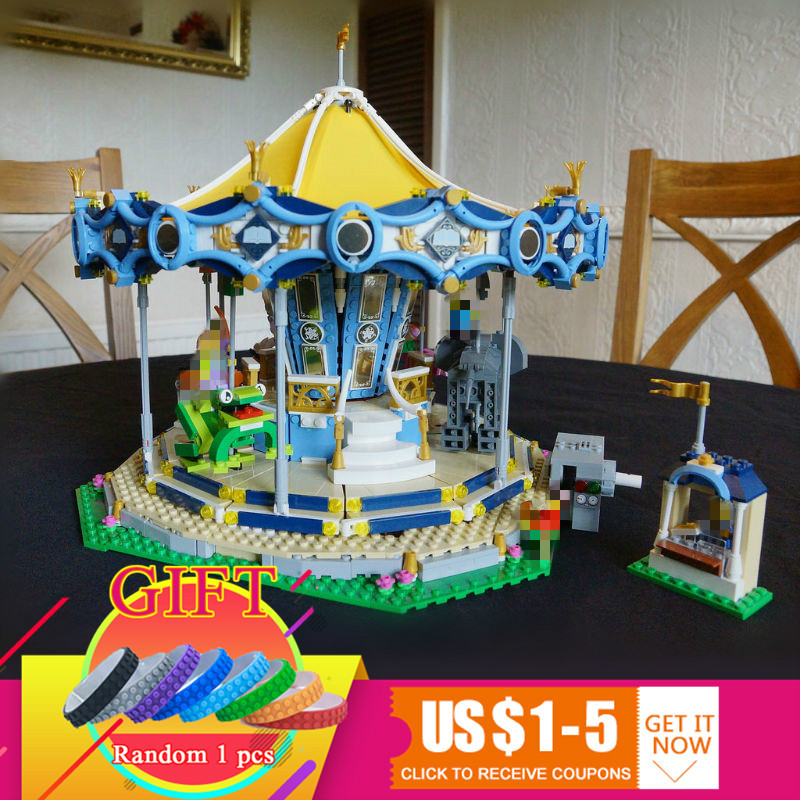 15036 2705Pcs The New Carousel Street Series Set Compatible with 10257 Model Building Blocks Toys цена