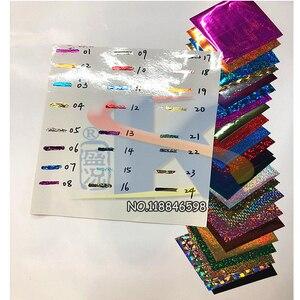 24 лазерных цвета для 48 шт бумага, железо и ламинатор для горячей фольги бумаги с клеем и резиновой DIY горячей фольги с ценой