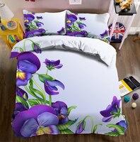 California king 3D bedding sets bedsheet Duvet Pillowcase bed cover Twin Queen Bed Linen Home decorate Textiles Drop Ship flower